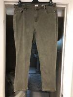 J Jill Authentic Fit Slim Ankle Denim Jeans Pants Women's Green Sz 18