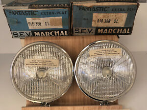 RARE  Marchal Fantastic SEV Fog Lamps Lights (2) Ferrari,Porsche,Mercedes NOS 🏁