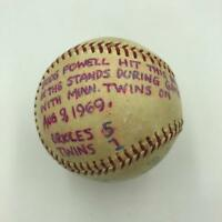 Boog Powell Signed Game Used Actual Double Hit Baseball August 9, 1969