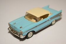 A2 1:43 CHEVROLET CHEVY COUPE 57 HARDTOP BLUE NEAR MINT CONDITION