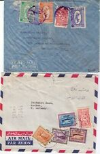 SAUDI ARABIA 1940-1960 SPECIALIZED COLLECTION OF 11 EARLY AIR MAIL COVERS with T