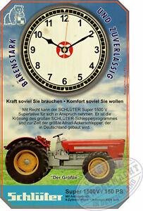 Schlüter Super 1500 V Schlepper Oldtimer Retro Wanduhr Geschenk Deko Traktor