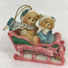 Cherished Teddies Our 1st Christmas Ornament #617229 Bundled Up For The Holidays