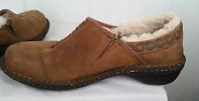 UGG #5747 BROWN SUEDE SHEARLING LINED BETTEY SHOE MOC LOAFER sz 8