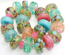 """Sistersbeads """"A-Rainforest"""" Handmade Lampwork Beads"""