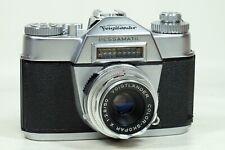 Voigtlander Bessamatic with 50mm f2.8 Color Skopar and Case!!!