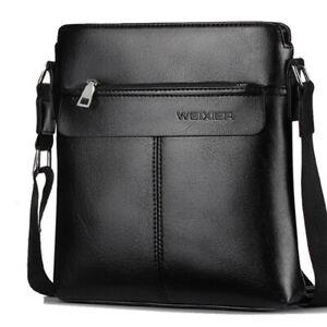 Men Leather Messenger Bag Office Cross Body Bag Business Satchel Shoulder Bag