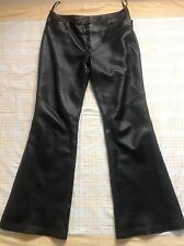 """BNWT """"Next"""" Black Butter Soft Leather Trousers,10/S. £250"""