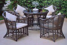 Poly Rattan Gartenmöbel Gartengarnitur  Sitzgruppe Essgruppe Tisch + 4 Stühle
