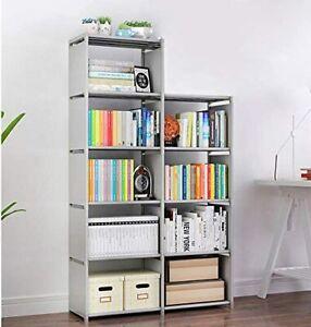 9 Storage Cubes 4-Tier Shelving Bookcase Display Cabinet DIY Closet Organizers