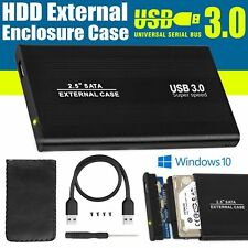 USB 2.5 SATA 3.0 External Enclosure HDD Hard Disk Drive Caddy Case for Laptop PC Black