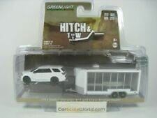 2018 DODGE DURANGO R/T AND GLASS DISPLAY TRAILER 1/64 HITCH AND TOW GREENLIGHT