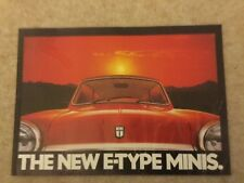 E-Type Minis HLE City E UK market sales brochure good condition