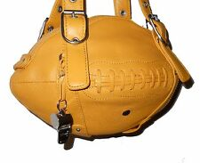 NEW Red24 Yellow Gold Leather FOOTBALL PURSE Shoulder Bag NFL Jaguars Chargers