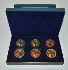Trivial Pursuit Deluxe Playing Pieces 6 Tokens & 36 Pieces Overlaid in 14k Gold