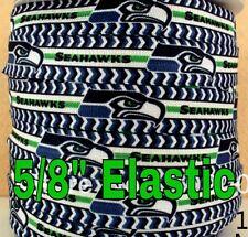 "NFL Seattle Seahawks 3 yards 5/8"" Elastic, FOE,  hair Ribbon Bow Headband"