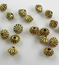 Free Shipping 100Pcs Gold Tibetan Spacer Beads 4x5mm For Jewelry Making