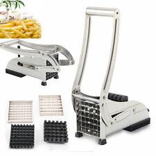 Pommesschneider Edelstahl Pommes Frites Schneider Kartoffelschneider Silber UP