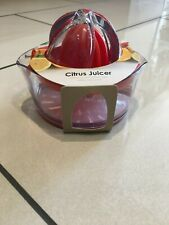 Salter Adjustable Citrus Juicer With Pulp Control Red NEW