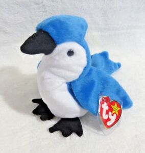 TY Beanie Baby - 1998 Rocket The Blue Jay 5.5 in - NEW WITH TAGS>FREE SHIPPING