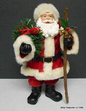 Cracker Barrel Country Store Fabric Mache Santa Figurine