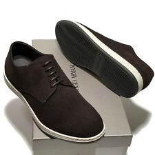 NEW ARMANI Suede Leather Sneakers 8 41 Men's Casual Oxford Fashion Dress Shoes