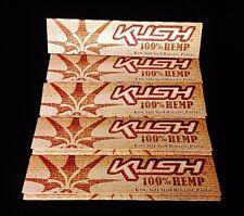 5 Packs KUSH 100% HEMP King Size Slim Cigarette Rolling Papers Free Ship