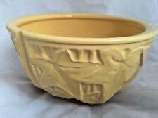 Vintage Mccoy Mc Coy Pottery Yellow Ivy 3 Panel Flower Pot Vase Planter