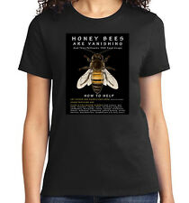 Honey Bees are Vanishing, How to Help, T-Shirt Mens/Adult, Ladies, Youth, NWT
