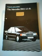MERCEDES COSWORTH 190E 2.3-16V SPECIFICATION BROCHURE WITH TECH. DATA INSERT