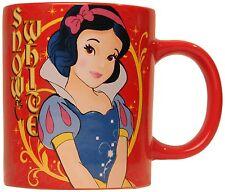 Disney Princess SNOW WHITE Red Ceramic Coffee Mug, 14 oz.