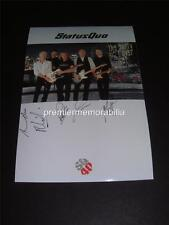 STATUS QUO SIGNED (PRINTED) PHOTOGRAPH RICK PARFITT FRANCIS ROSSI