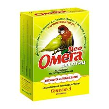 Treats «Omega Neo» for birds with biotin, 50 gr, omega 3, Russia
