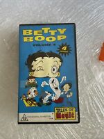 Vintage Betty Boop Volume 4 VHS Video Tape 4x Cartoons - Collectible #v020