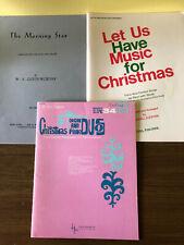 Lot Of 3 Organ Piano Duet Books Christmas Sheet Music Religious Devotional