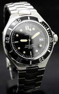 Vintage Omega Seamaster Professional 200m Pre Bond Black Swiss Quartz Watch