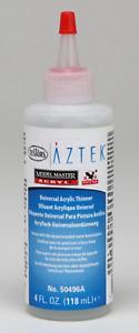 Model Master Acrylic Airbrush Thinner 4Oz, #TTMM50496A