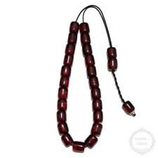 Amber Resin 23 beads 12x14mm Komboloi - Authentic Handmade Worry Beads - Rosary