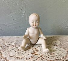 Vintage Bisque Baby Doll Jointed Arms & Legs Closed Eyes Sleeping