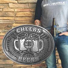 BevBuckle Retractable Beverage Holding Belt Buckle - Cheers to Beers