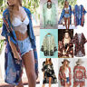 Womens Summer Boho Chiffon Coat Shawl Kimono Cardigan Beach Cover Up Blouse Tops