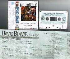 David Bowie Jamais Let Me Down Japan Cassette Zr28-1439 W/Ps-flap Torn Filles
