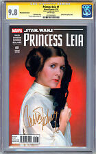 STAR WARS: PRINCESS LEIA #1 CGC-SS 9.8 SIG CARRIE FISHER ORIG 1977 ACTRESS 2015