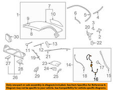 VW VOLKSWAGEN OEM Beetle Convertible/soft Top-Cable & Guide Right 1Y0871342B