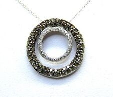 Brown & White Diamonds 1.00ct. Pendant & Chain size 46cm/18,1inches Gold 14Carat