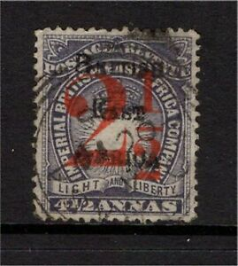 British East Africa QV 1895 2½a on 4½a Fine Used