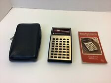 Vintage Texas Instruments Electronic Slide Rule Ti-30 Calculator Case Manual
