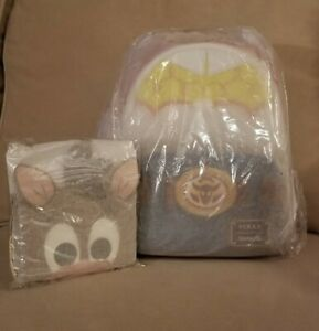 DISNEY LOUNGEFLY PIXAR TOY STORY JESSE COSPLAY MINI BACKPACK AND BULLSEYE WALLET