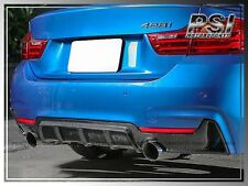 2015 BMW F32 F33 M Sports Rear Bumper Performance Style Carbon Fiber Diffuser