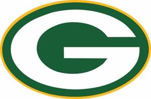 Green Bay Packers Logo NFL Color Die Cut Vinyl Decal/Sticker You Pick the Sizes